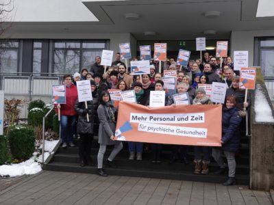 Protestaktion Main-Kinzig-Kliniken Schlüchtern